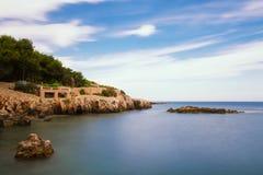 Seascape of Cap d'Antibes Stock Photos