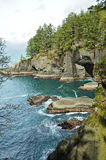Seascape in cape flattery Royalty Free Stock Photography