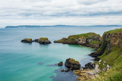 Seascape at The Carrick-a-rede Stock Photos