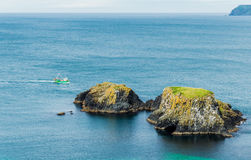 Seascape at The Carrick-a-rede Stock Image