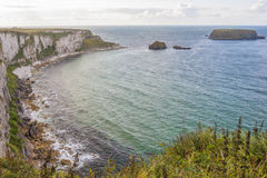 Seascape at The Carrick a rede. In Northern Ireland royalty free stock image