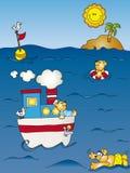 Seascape cartoon Royalty Free Stock Photos