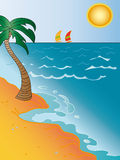 Seascape cartoon Stock Photos