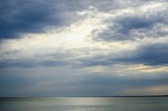 Seascape chmurny niebo Zdjęcie Royalty Free