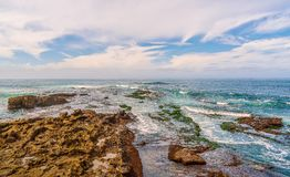 Seascape in the city of San Diego.California.USA stock photography