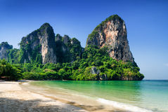 Clear water and blue sky. Beach in Krabi province, Stock Image