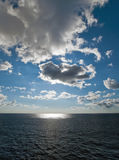 Blue sky and clouds in Atlantic ocean Royalty Free Stock Image