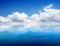 Seascape and clouds Stock Images