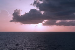 Seascape with clouds Royalty Free Stock Photos