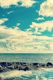 Seascape cloudscape instagramlike Royalty Free Stock Photography