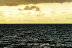 Seascape cloudscape landscape sunrise shot Royalty Free Stock Image