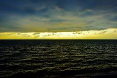 Seascape cloudscape landscape sunrise shot Stock Photos