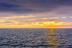 Seascape cloudscape landscape sunrise shot Stock Photography