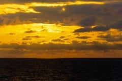 Seascape cloudscape landscape sunrise shot Royalty Free Stock Photography