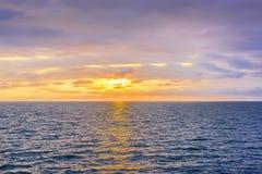 Seascape cloudscape landscape sunrise shot Stock Images