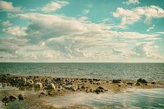 Seascape cloudscape Retro Effect Stock Photo