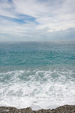 Seascape with cloudy sky Stock Photography