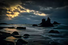 Seascape with cloudy sky Royalty Free Stock Photography