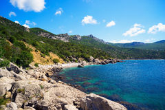 Seascape coast of the Black sea. Royalty Free Stock Photography