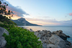 Seascape coast of the Black sea in the early morning. Stock Photography