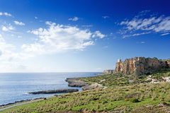 A seascape on the coast of Italy Royalty Free Stock Images