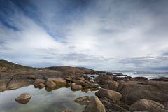 Augusta ocean views from Cape Leeuwin. Royalty Free Stock Images