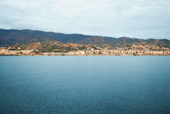 A seascape on the coast of Sicily, Italy. Port. Stock Images