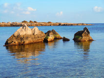 Seascape on the coast of Southern Italy Royalty Free Stock Photography