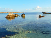 Seascape on the coast of Southern Italy Stock Image