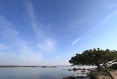 Seascape with coastal rocks Royalty Free Stock Images