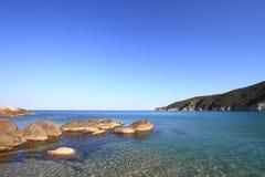 Seascape with coastal rocks Royalty Free Stock Photography