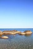 Seascape with coastal rocks Stock Photos
