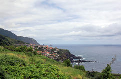 Seascape. The coastline of the island. Island Madeira royalty free stock photography