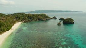 Seascape com beah na ilha de Boracay, Filipinas filme