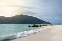 Seascape com céu azul Foto de Stock