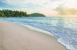 Seascape com céu azul Imagens de Stock