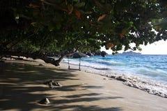 Seascape com ondas azuis Foto de Stock Royalty Free