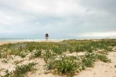 Seascape com um equipamento do salvamento Foto de Stock