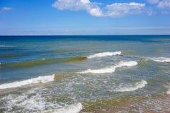 Seascape com uma vista do mar Báltico Fotos de Stock Royalty Free