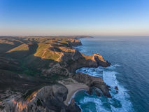 Seascape Costa Vicentina with the air. Royalty Free Stock Photo