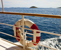 Seascape from a cruise vessel Royalty Free Stock Image