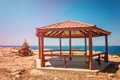Cyprus Ayia Napa, Cape Greco peninsula, national forest park Royalty Free Stock Photos