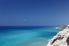 Seascape. Cyprus, near Pafos. Royalty Free Stock Images