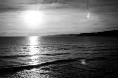 seascape czarny biel Zdjęcia Royalty Free