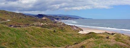 Seascape da ilha sul da costa oeste da entrada de Westhaven, Zeala novo Fotografia de Stock