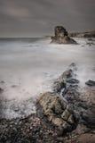 Seascape da praia da tempestade Imagens de Stock Royalty Free