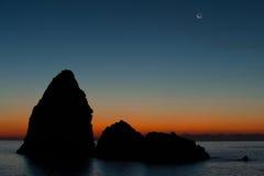 Seascape at dawn Stock Image