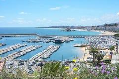 Seascape de Blanes, Espanha fotos de stock