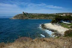 Seascape de Cagliari imagem de stock royalty free