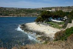 Seascape de Cagliari fotos de stock royalty free